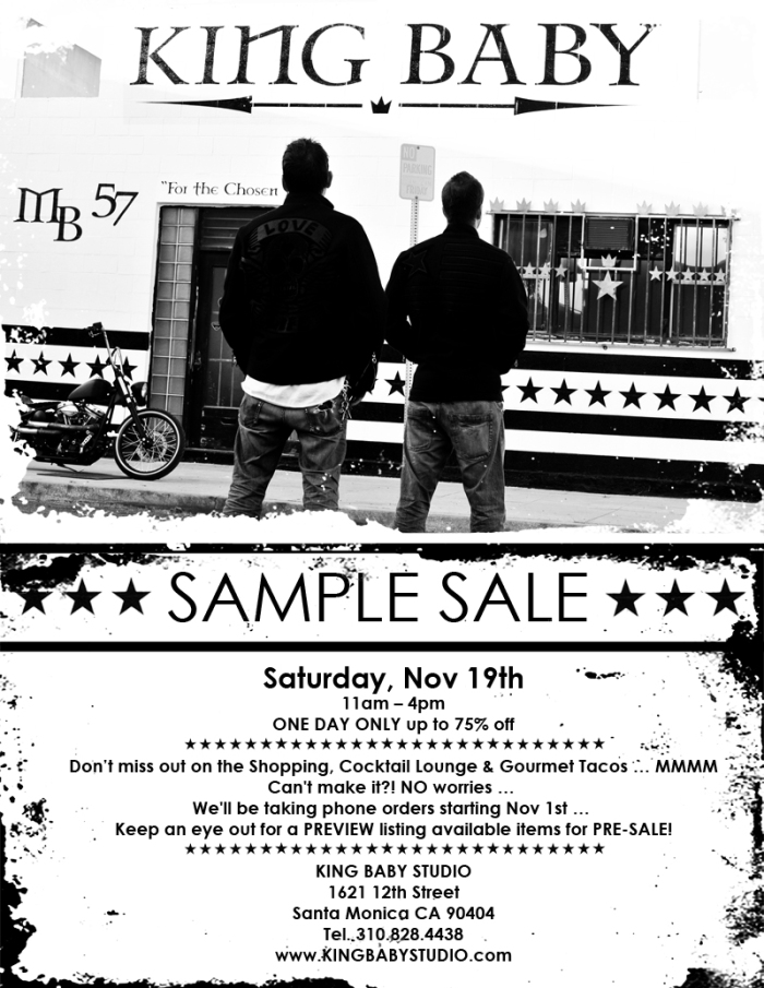 KING BABY SAMPLE SALE